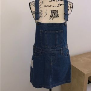 American Apparel denim overall minidress